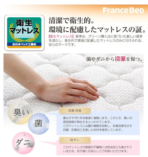 抗菌・防臭・防ダニ加工の衛生マットレス